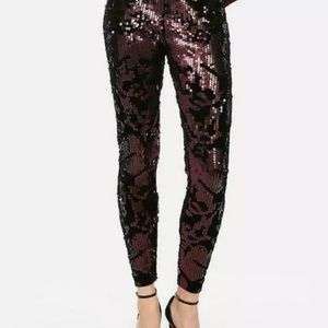 NWT express sequin leggings